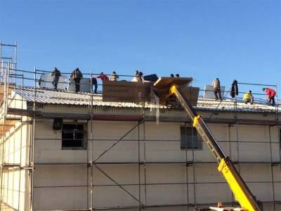Solar energy roof - panels instalation