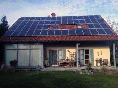 Home solar roof