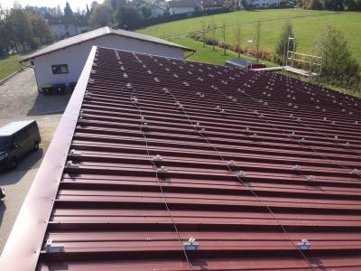 Solar energy - roof before fitting of the panels