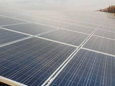 Big solar field plant