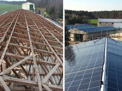 Solar energy solutions before and after