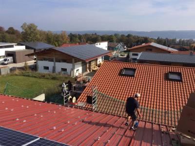 Solar roof - solar panels installation