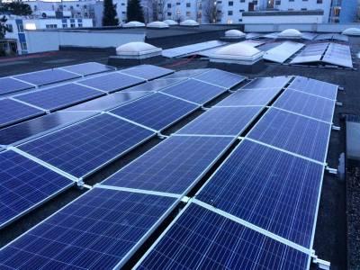 City roof solar plant