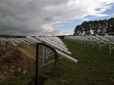Solar field setting before panels