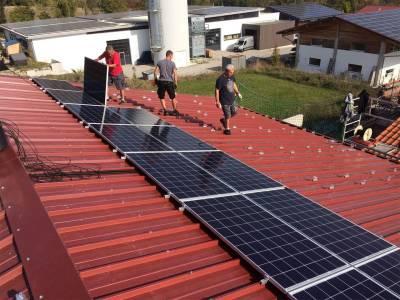 Solar roof -Solar energy setting
