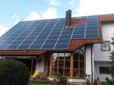 New solar home roof